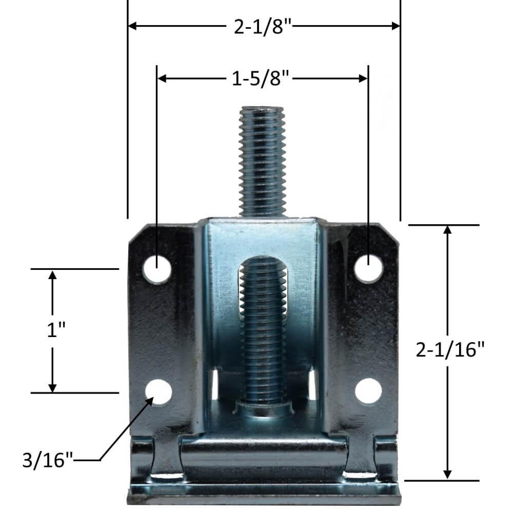 Heavy Duty Leveler Legs w/ Lock Nuts - Specs